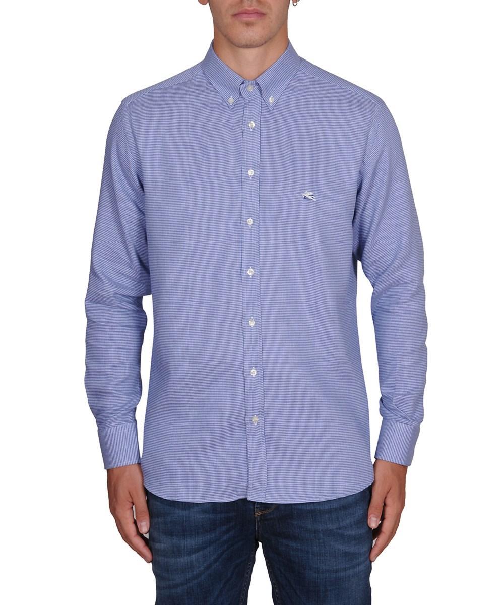 Etro Men's  Light Blue Cotton Shirt