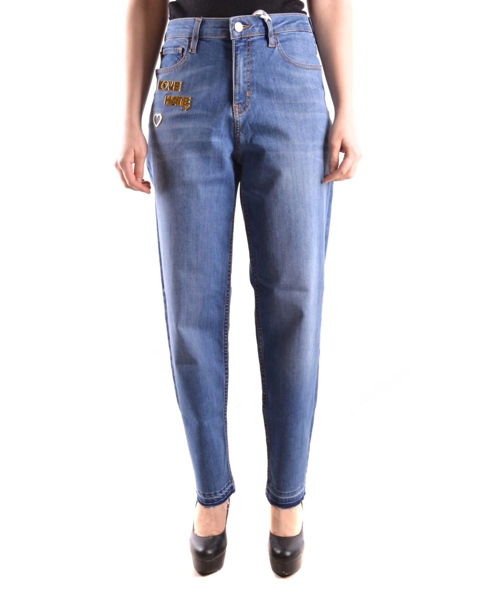 Love Moschino Men's  Blue Cotton Jeans