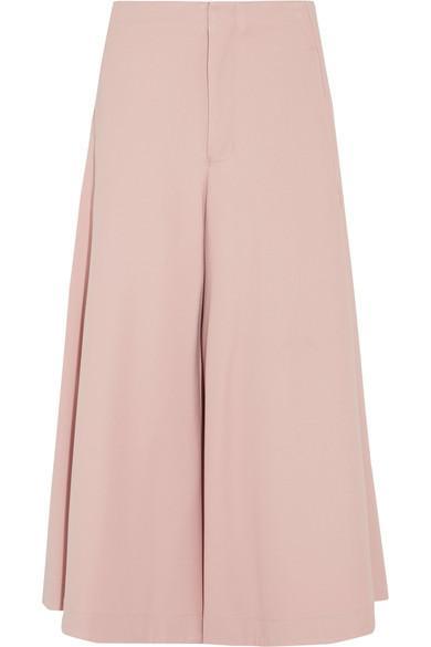 Bassike Stretch-Twill Culottes In Pink