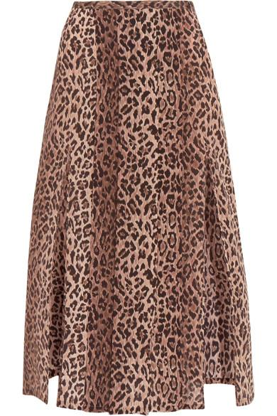 8e6e9b635162 Rixo London Georgia Pleated Leopard-Print Silk Skirt | ModeSens