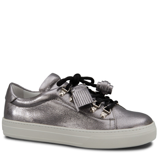 Tod's Sneakers In Leather In Silver