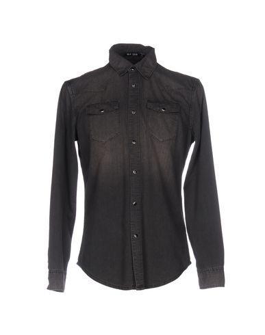 Blk Dnm Denim Shirt In Steel Grey