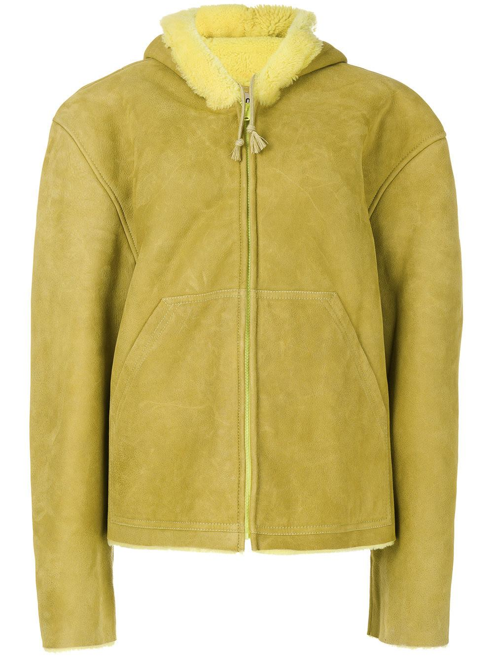 Yeezy Season 4 Shearling-Lined Suede Jacket In Highlight