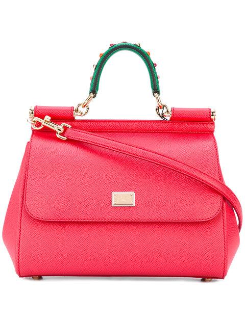 Dolce & Gabbana Sicily Mm Shoulder Bag In Red