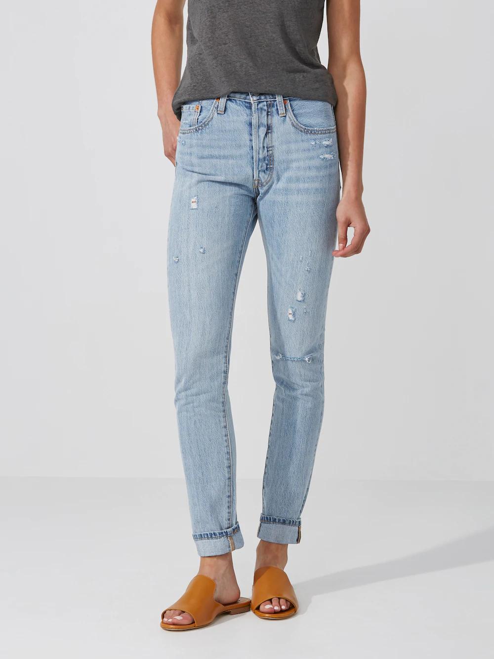 Frank + Oak Levi's 501 Skinny Jean In Light Blue