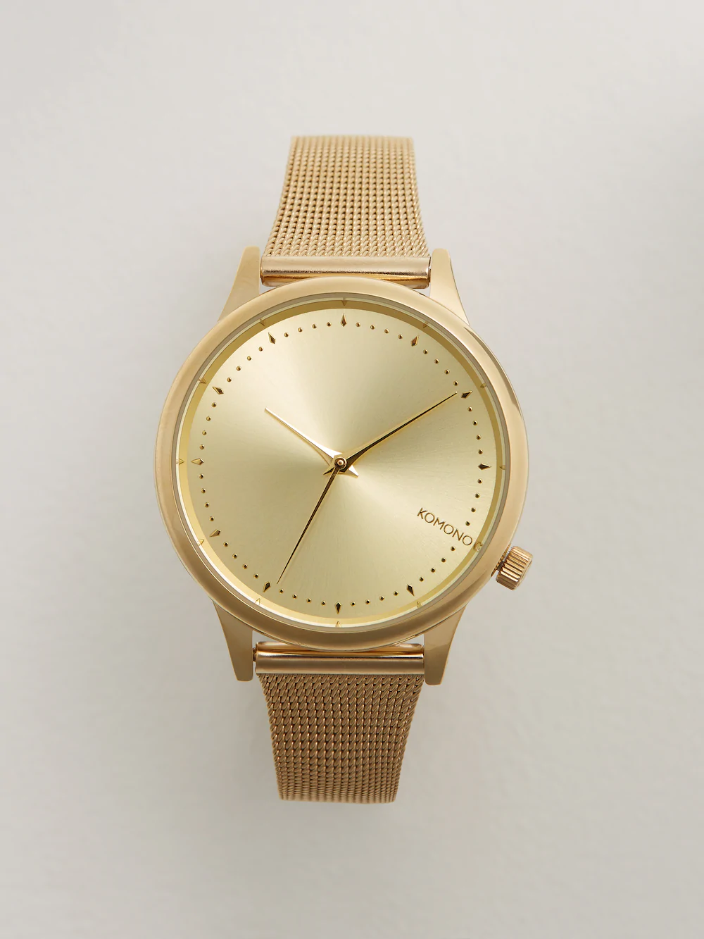 Frank + Oak Komono Estelle Royale Watch In Gold Metal