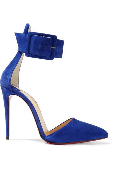 Christian Louboutin Harler Ankle Strap Pump In Royal Blue