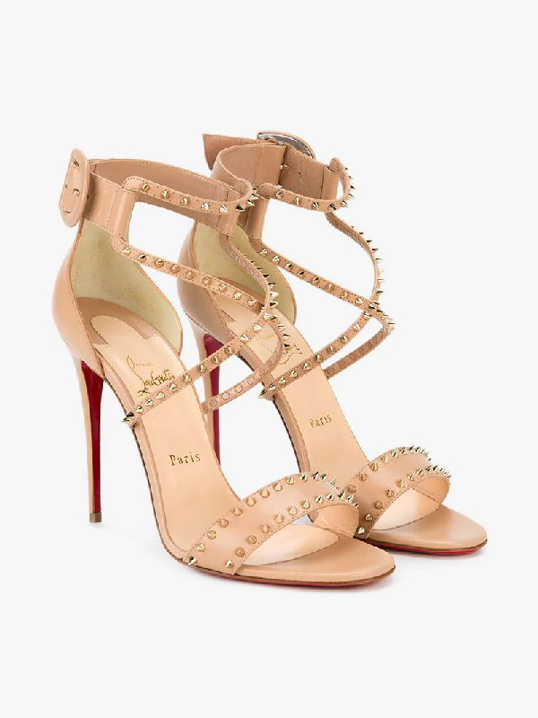 Christian Louboutin Choca Spikes In Neutrals