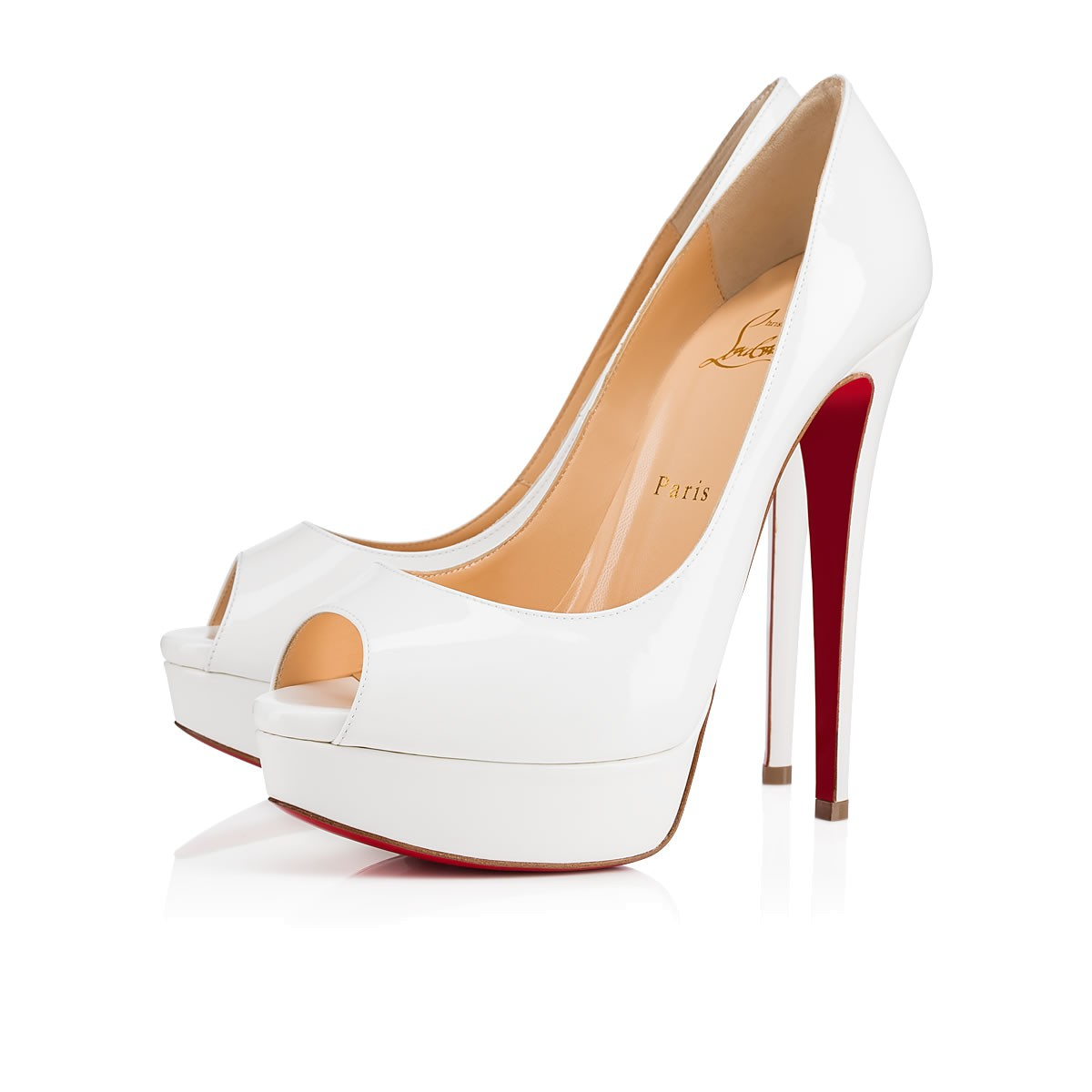 Christian Louboutin Fetish Peep In Latte