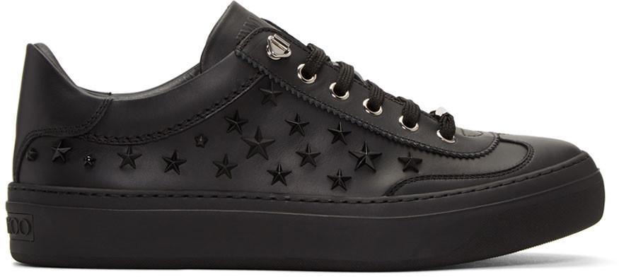 Jimmy Choo Black Stars Ace Sneakers