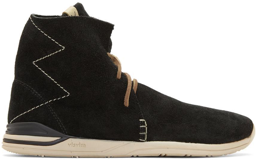 """Visvim """"Huron Moc Hi-Folk"""" Sneakers In Black"""