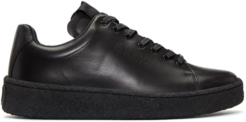 Eytys Ace Low-Top Leather Trainers In Black