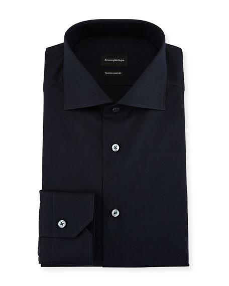 Ermenegildo Zegna Trofeo&Reg; Comfort Dress Shirt, Navy