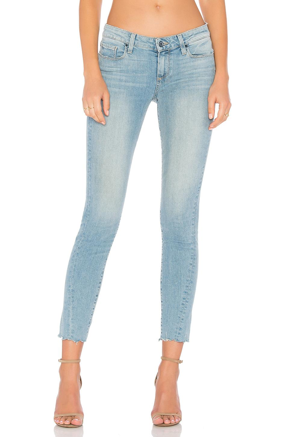 Paige Skyline Ankle Peg Twisted Seam In Fina Distressed
