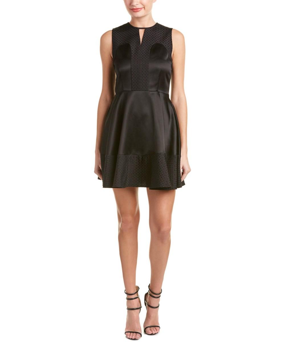 Rachel Zoe Seanette Wool & Silk-Blend A-Line Dress In Black