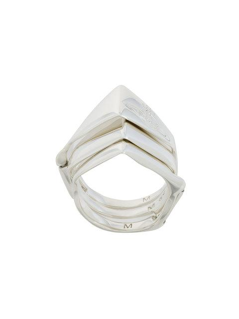 Vivienne Westwood Armour Ring In Metallic