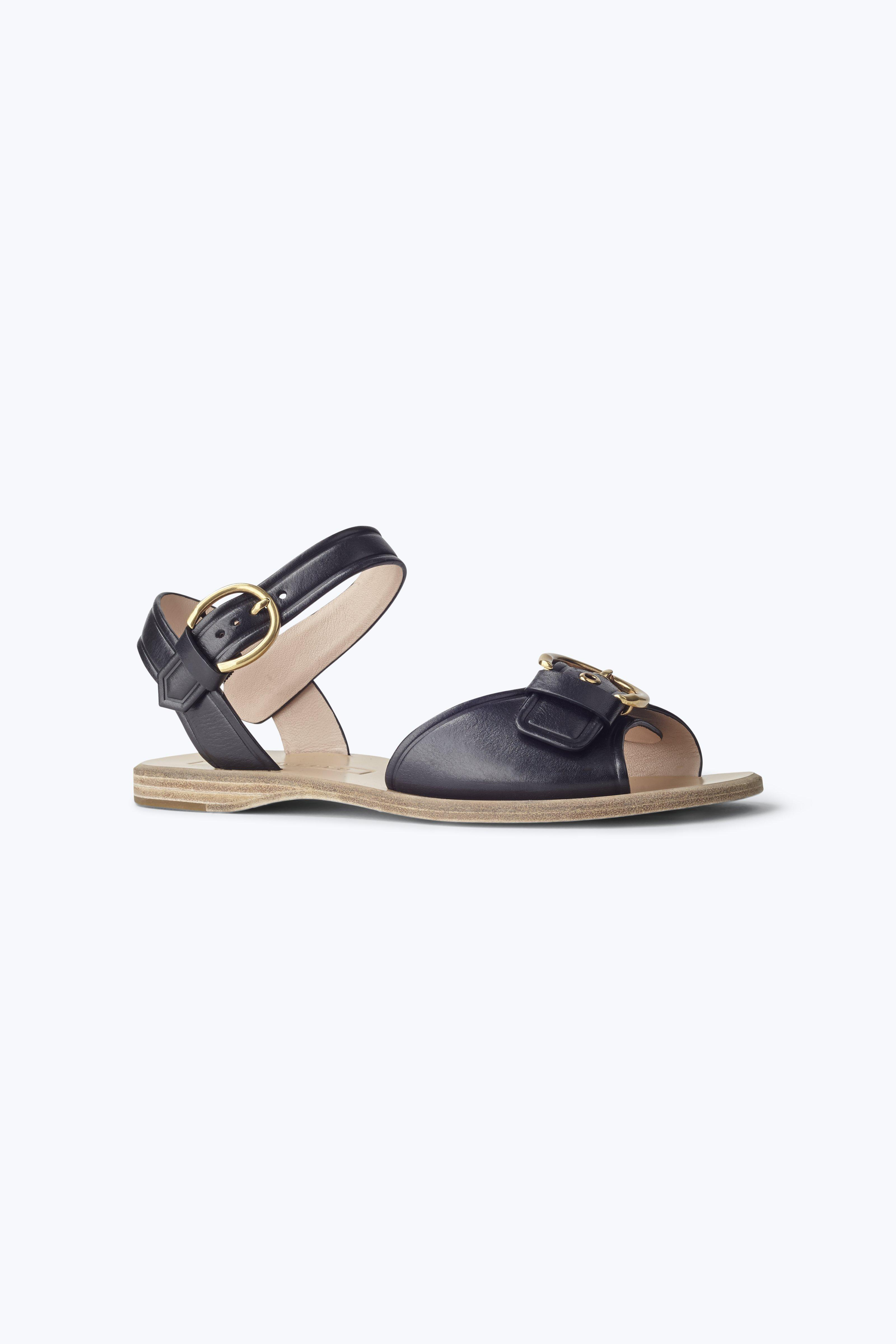 Marc Jacobs Horizon Flat Sandal In Black