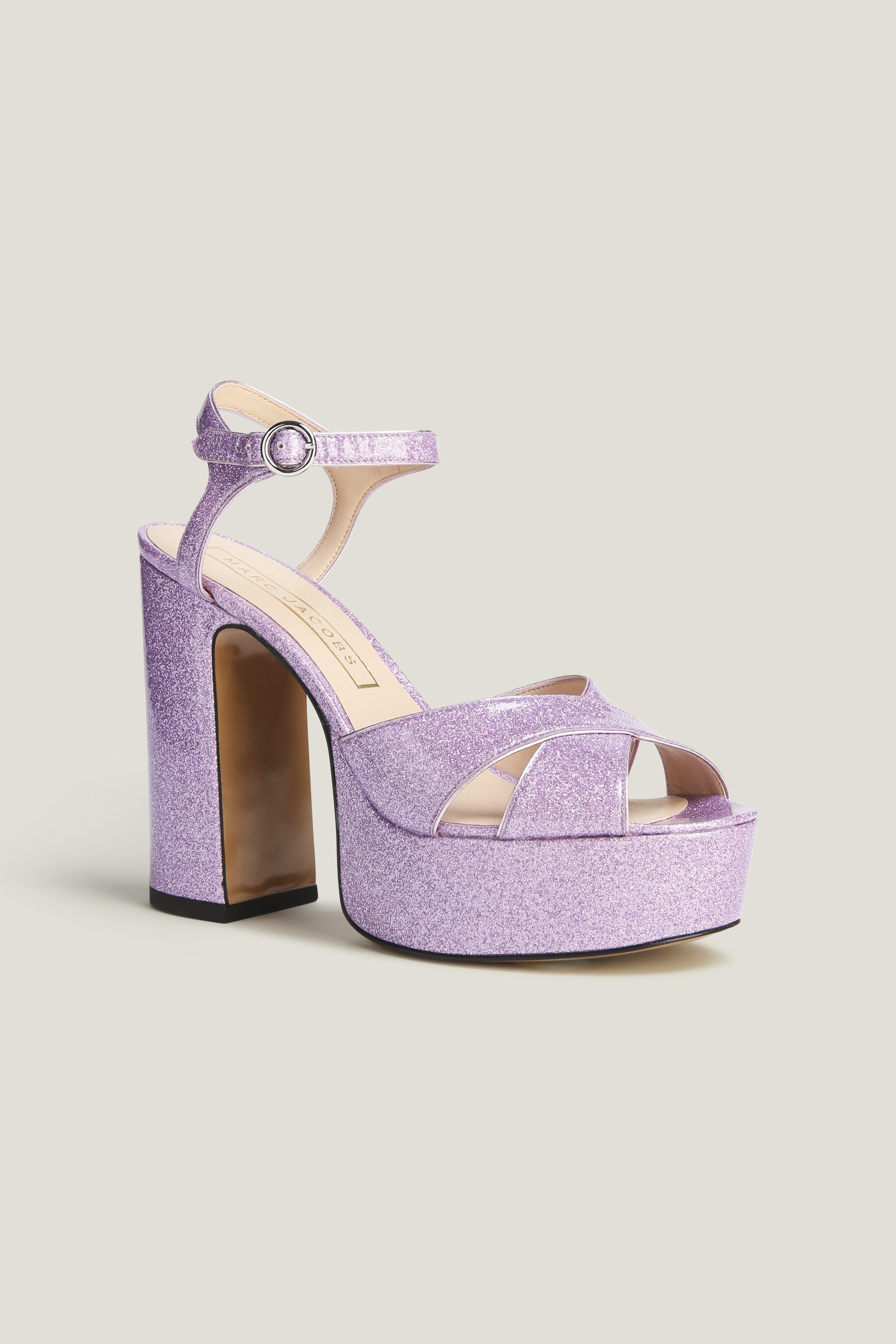 Marc Jacobs Lust Platform Sandal In Lilac