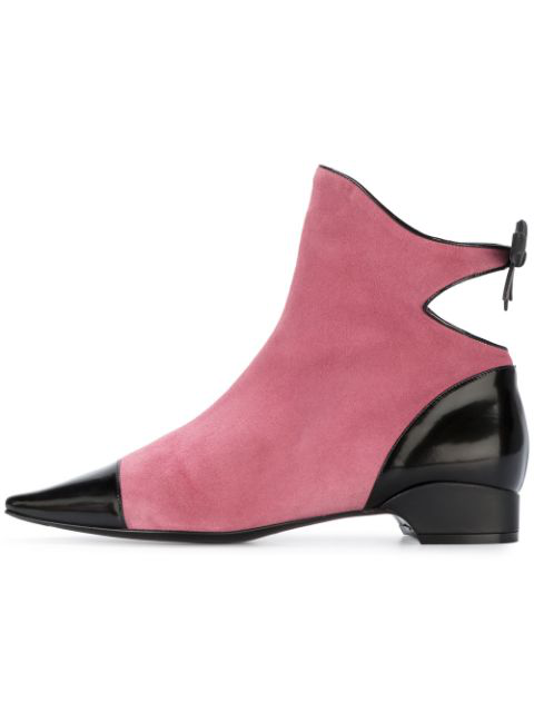 Fabrizio Viti 20Mm Take A Bow Suede & Leather Boots In Pink