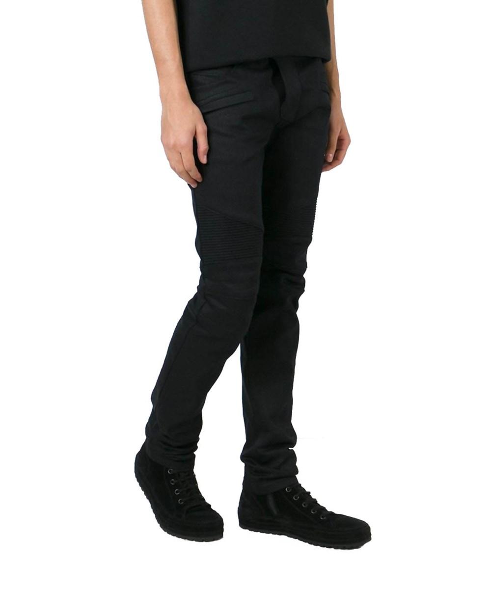 Balmain Men's  Black Cotton Jeans