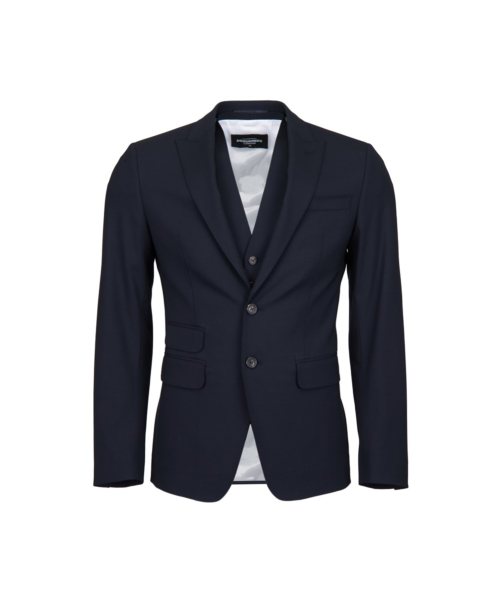 Dsquared2 Men's  Blue Wool Suit