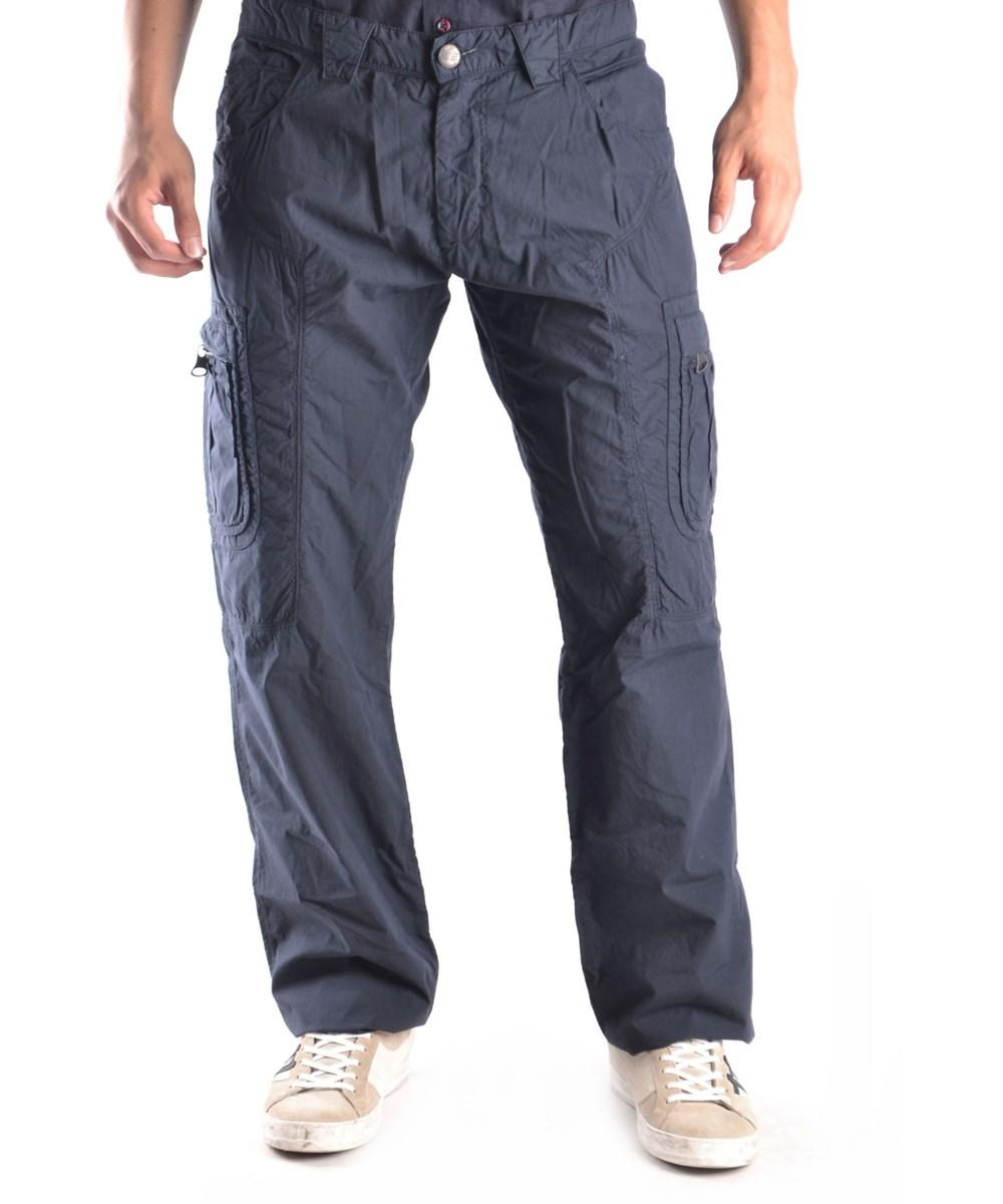 Ermanno Scervino Men's  Blue Cotton Pants