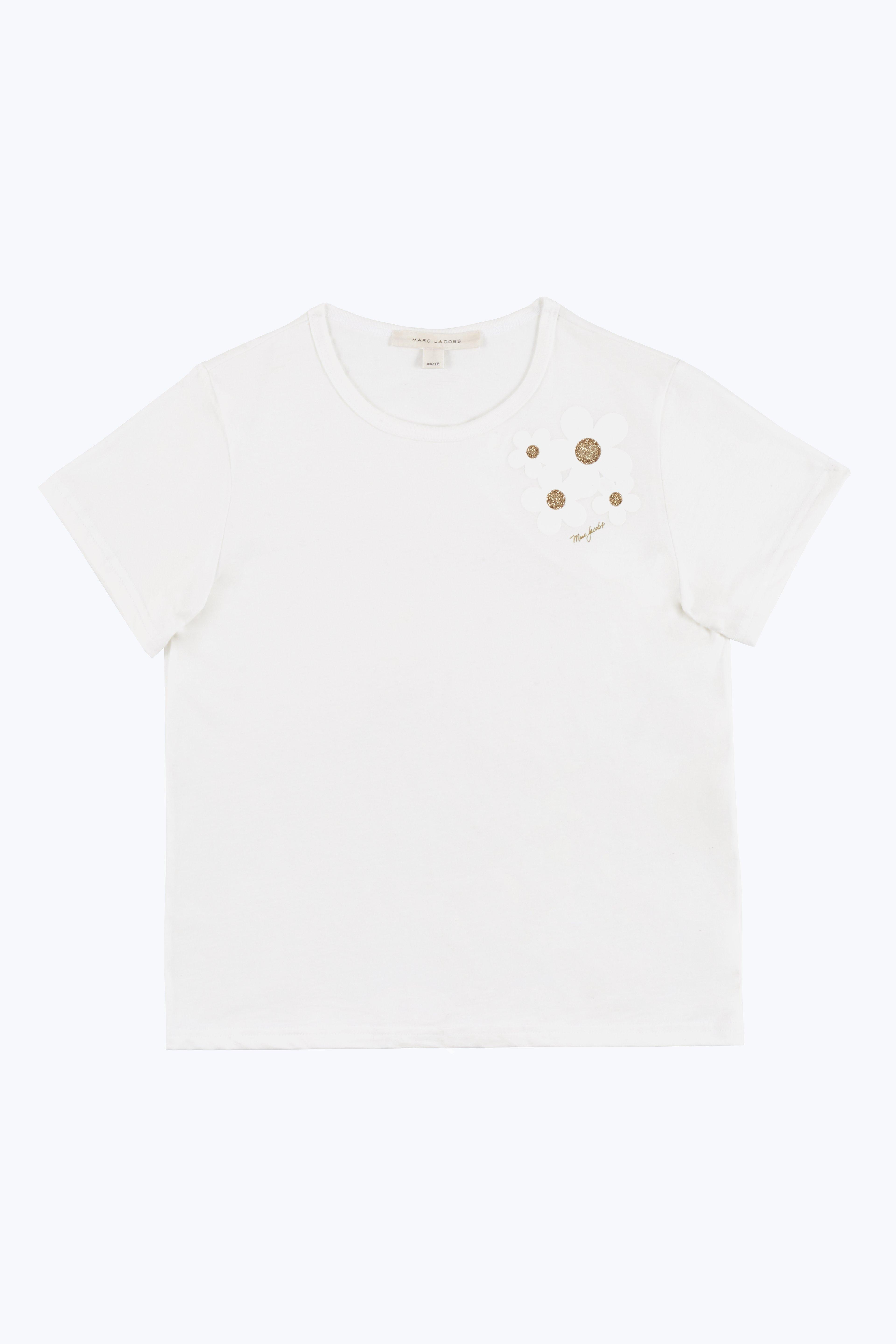 Marc Jacobs Daisy Cap Sleeve Tee In Ivory