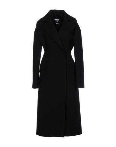 Msgm Coat In Dark Blue