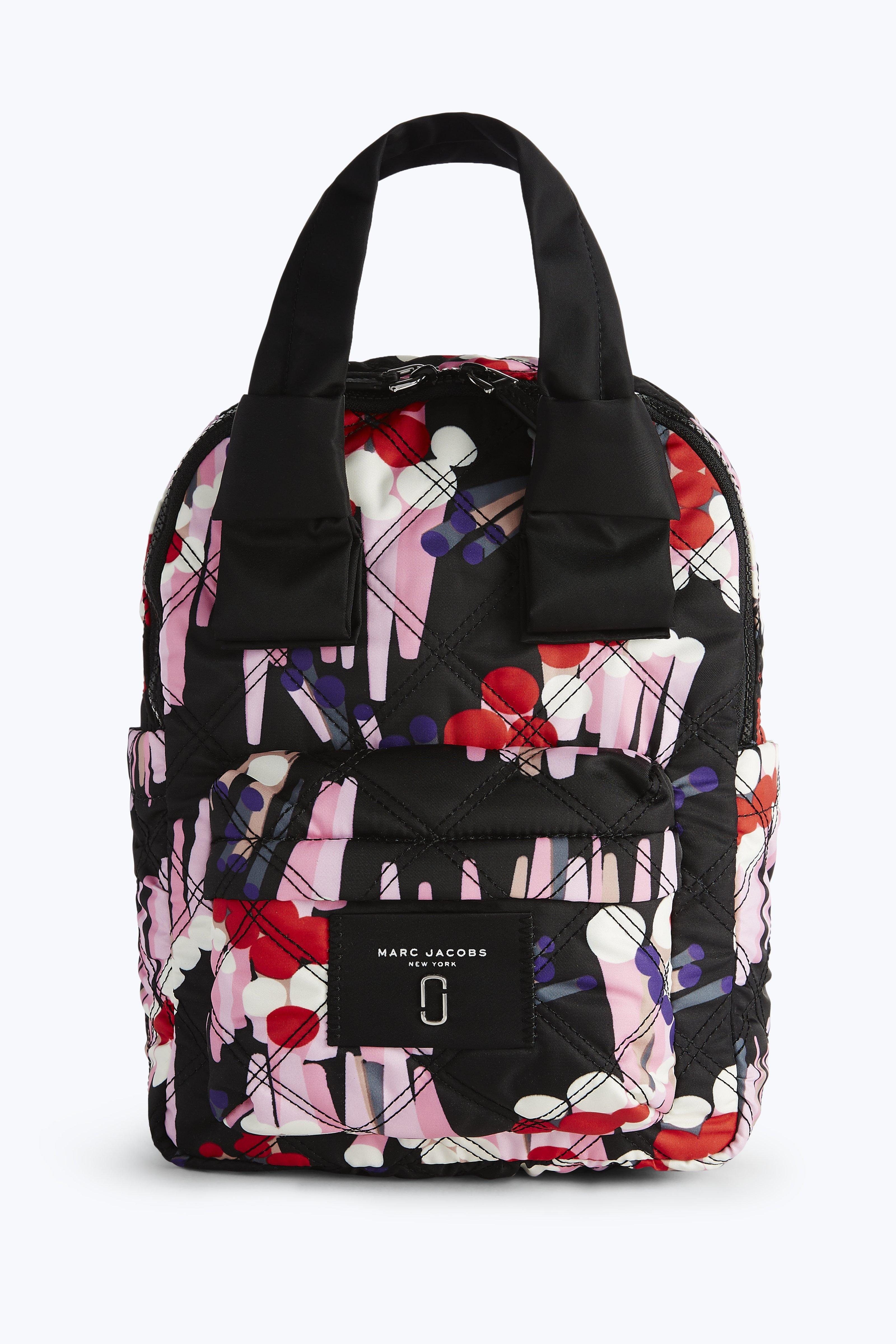 Marc Jacobs Geo Spot Printed Knot Large Backpack In Black Multi