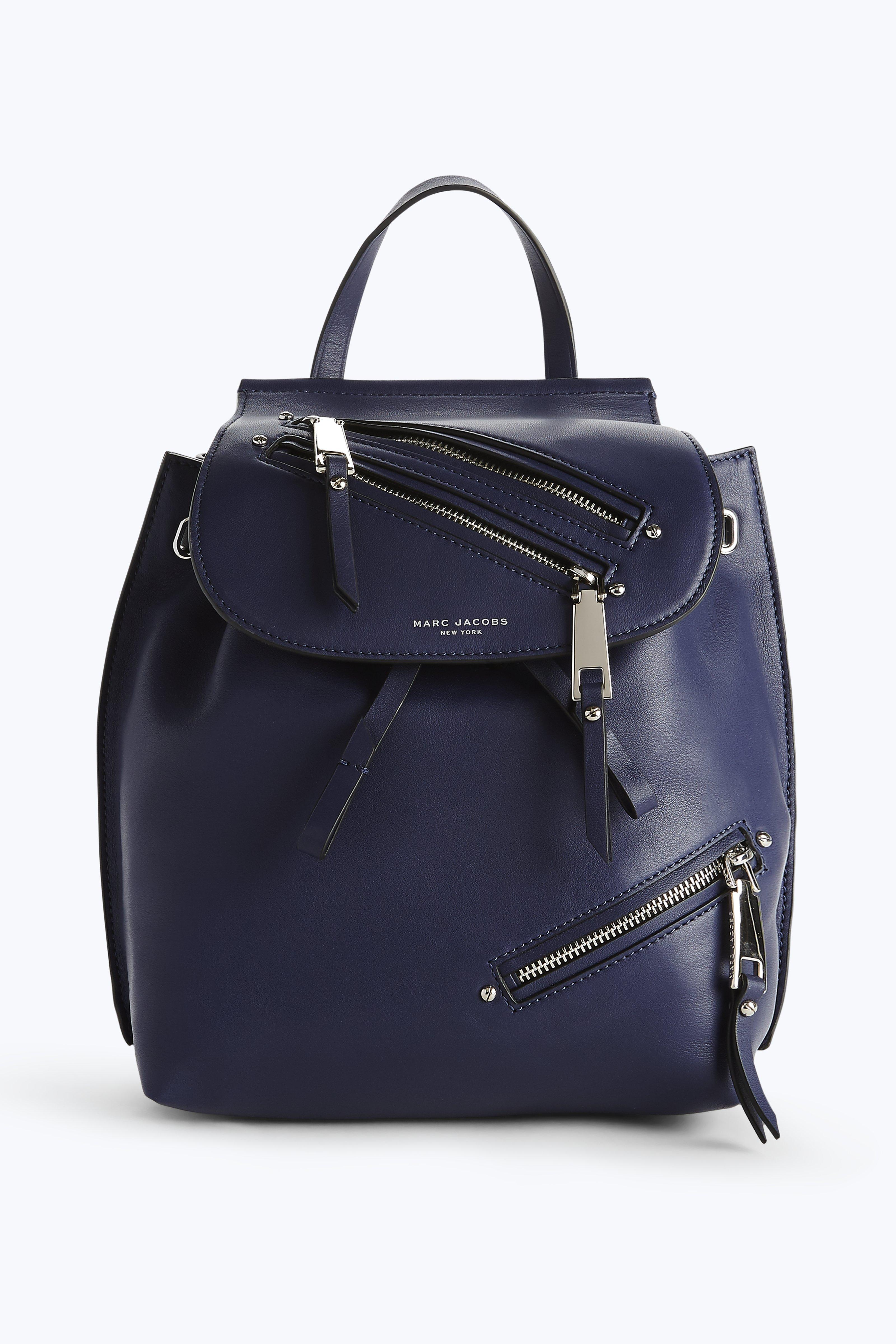 Marc Jacobs Zip Pack Backpack In Midnight Blue
