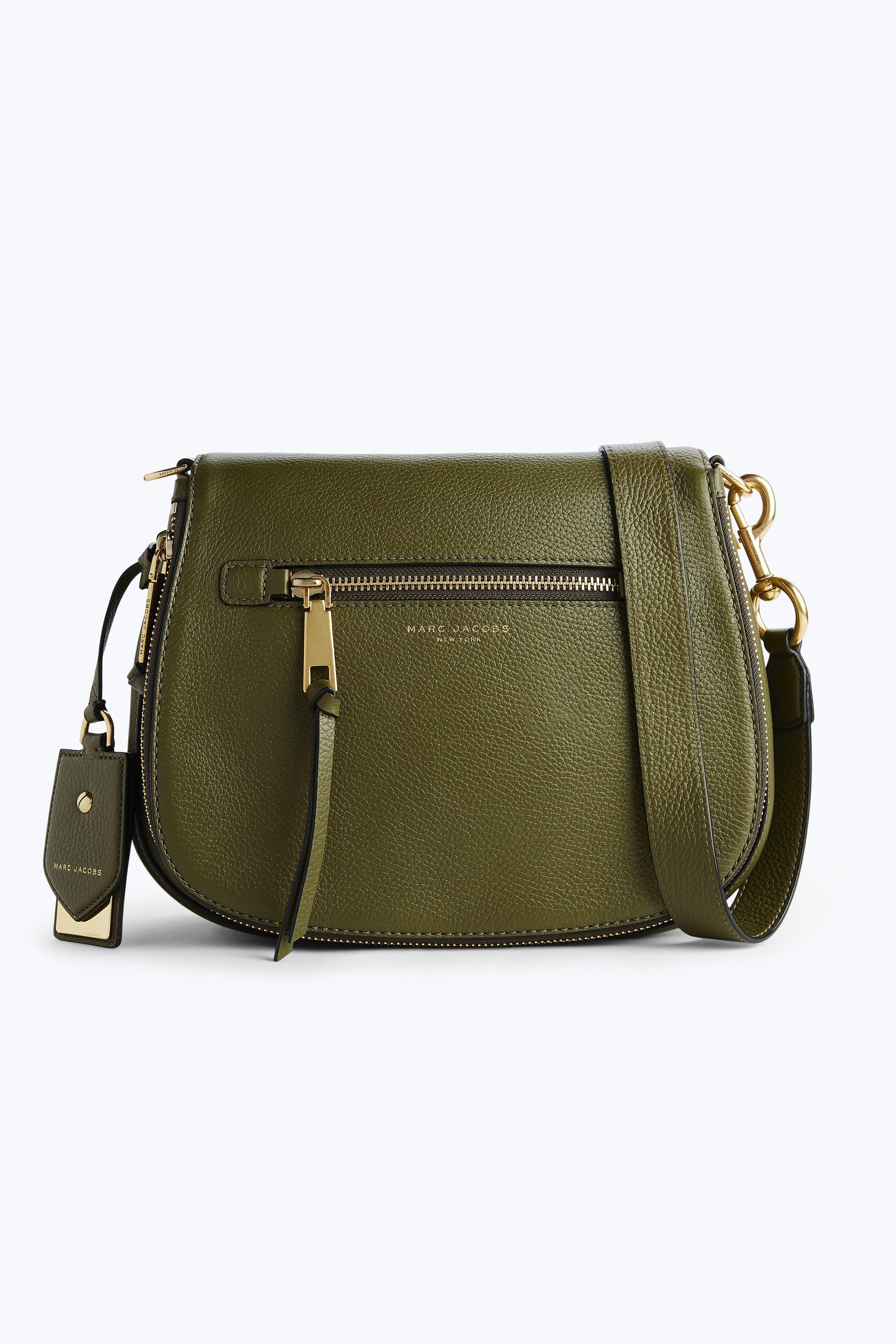 Marc Jacobs Recruit Nomad Leather Saddle Bag In Army Green