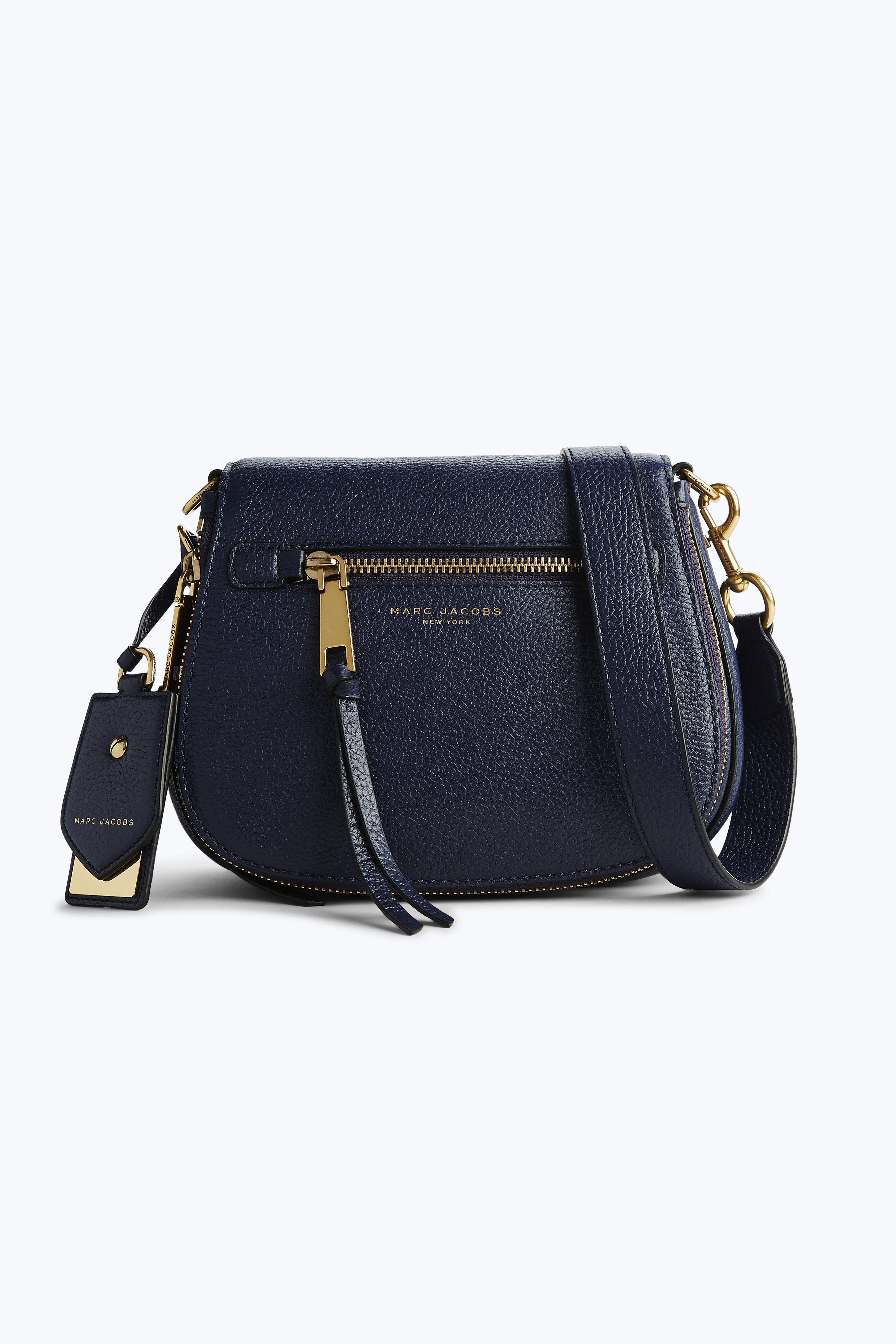 Marc Jacobs Recruit Small Nomad Saddle Bag In Midnight Blue
