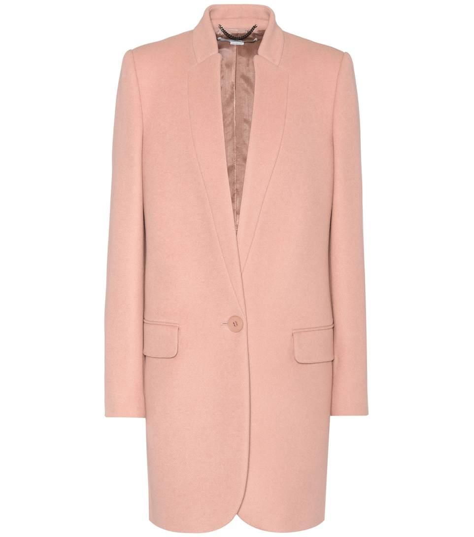 Stella Mccartney Bryce Wool-Blend Coat In Llush