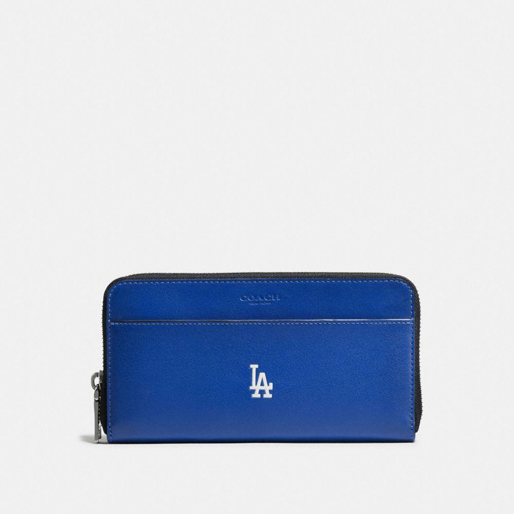 Coach Mlb Accordion Wallet In Sport Calf Leather In : La Dodgers