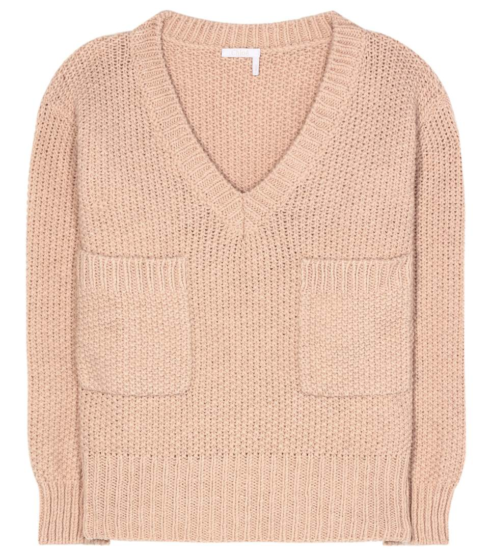 ChloÉ Chunky Knit Oversized Sweater In Pink