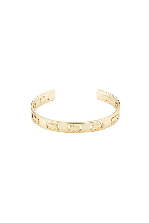 Marc Jacobs Logo Cuff In Gold