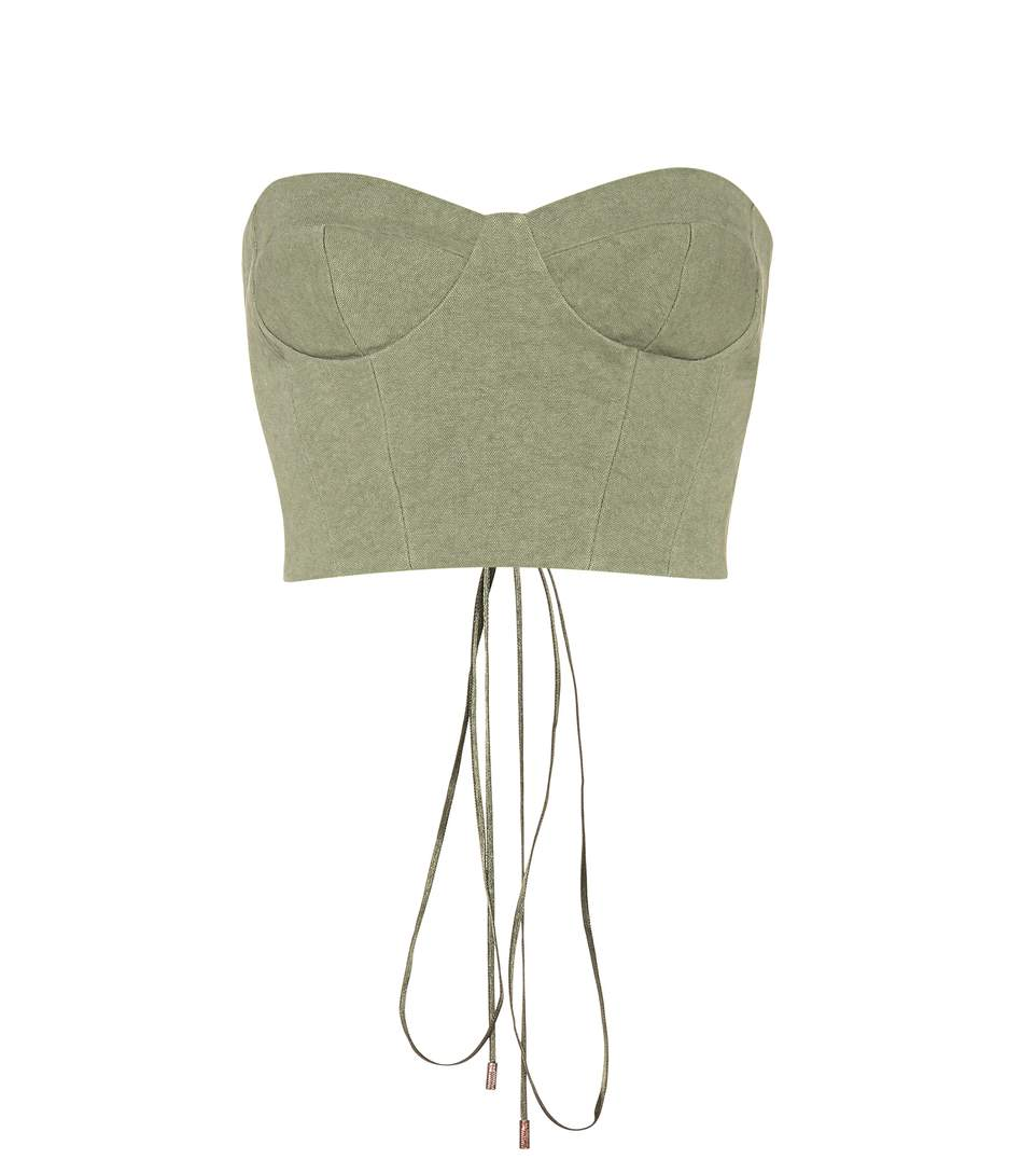 Off-White Exclusive To Mytheresa.Com - Canvas Corset In Green