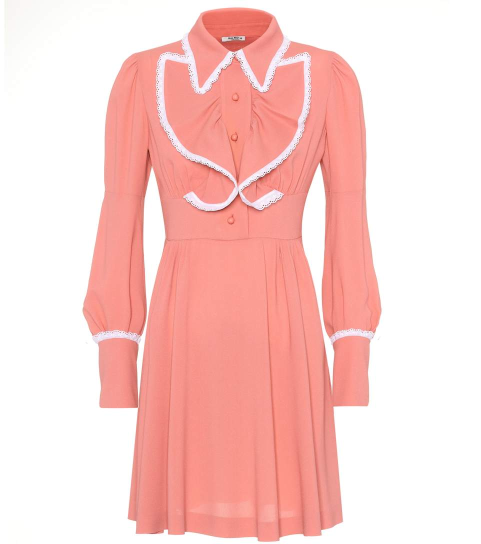 Miu Miu Shirt Dress In Pink