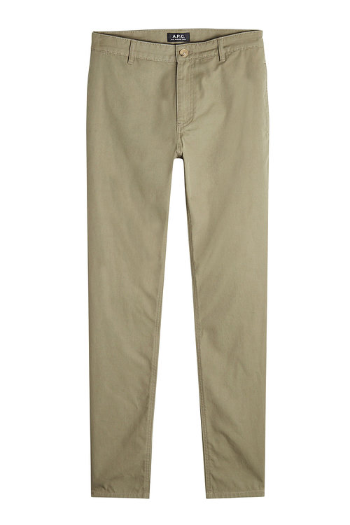 A.P.C. Cotton Chinos In Green