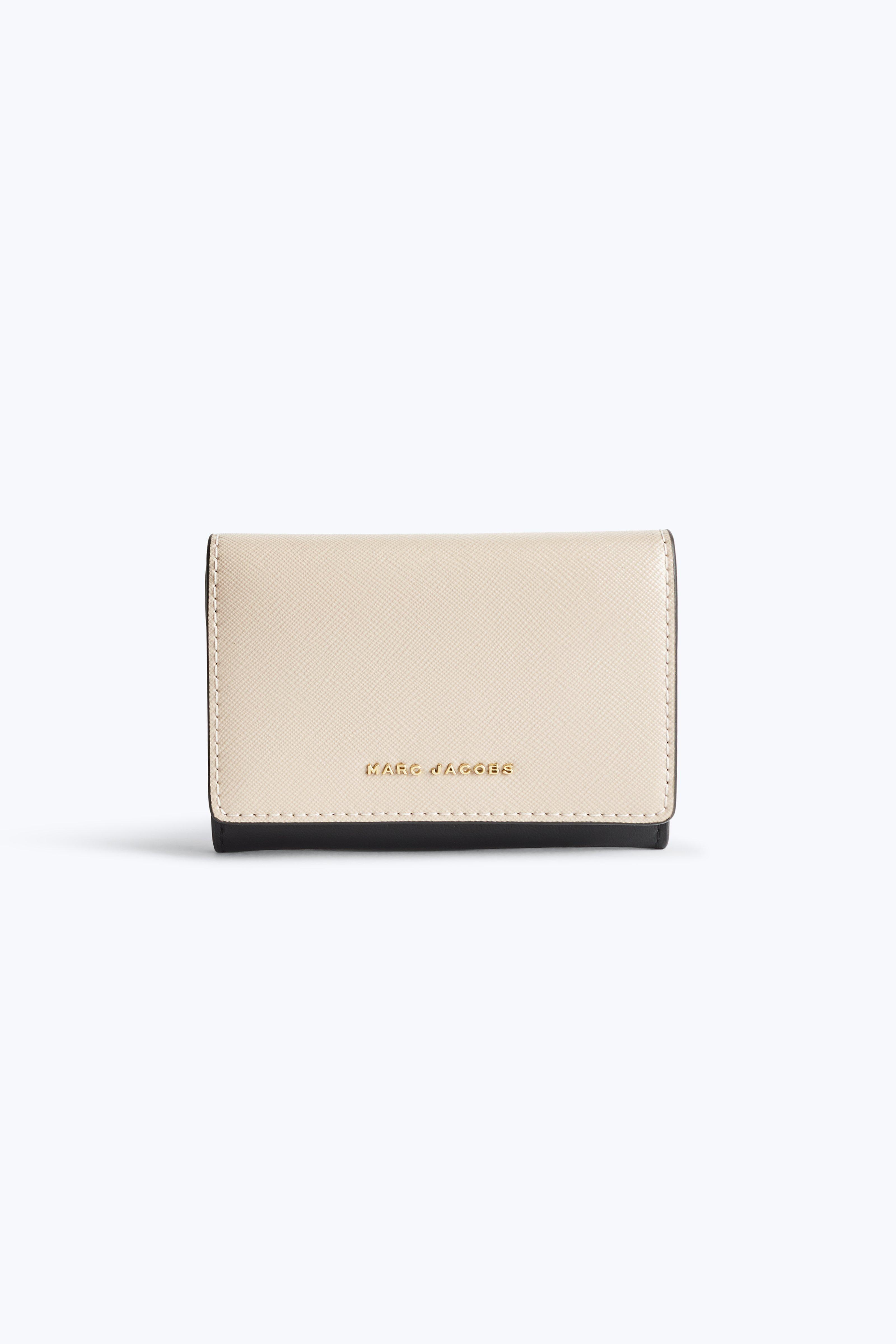 Marc Jacobs Saffiano Colorblocked Multi Wallet In Pale Pink Multi