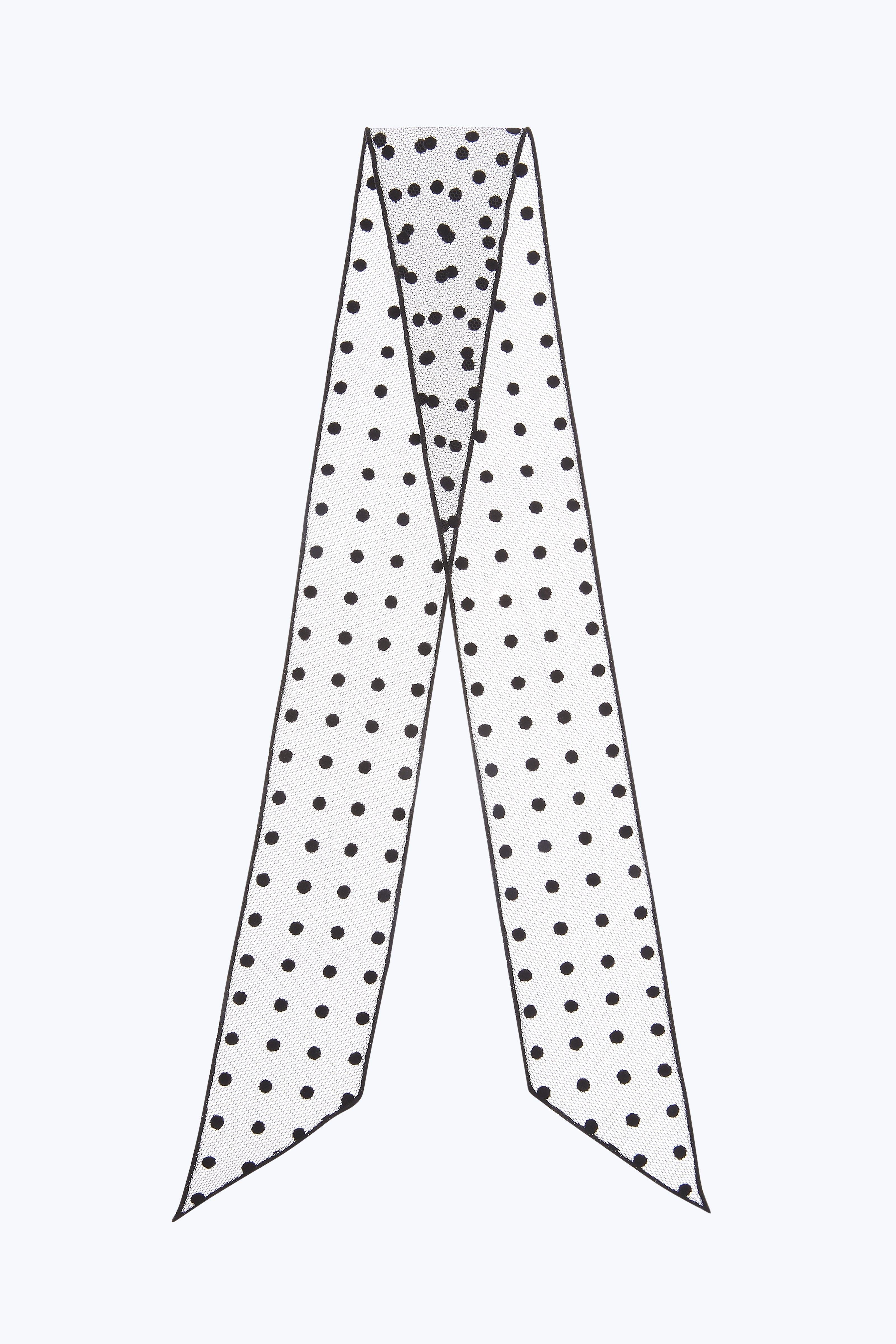 Marc Jacobs Polka Dot Flocked Mini Bandeau In Black Multi