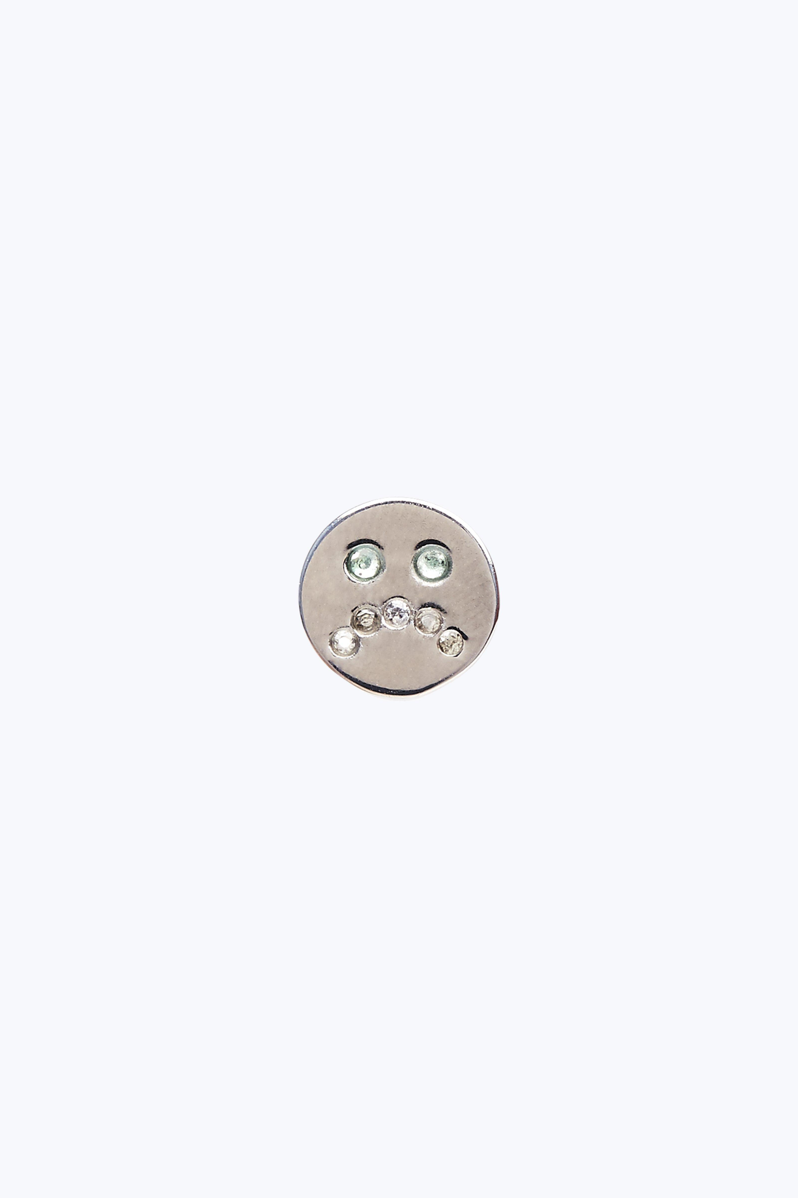 Marc Jacobs Sad Face Single Stud In Silver