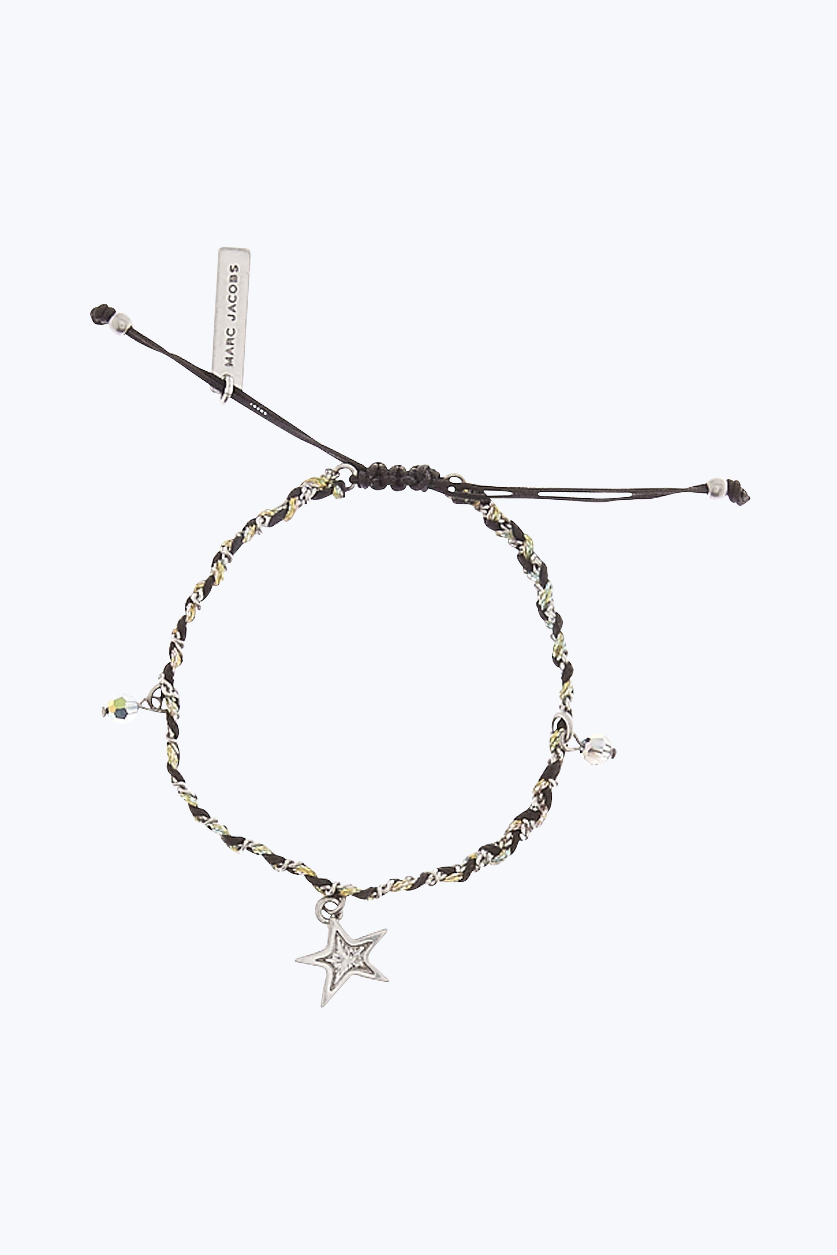 Marc Jacobs Star Friendship Bracelet In Black Multi