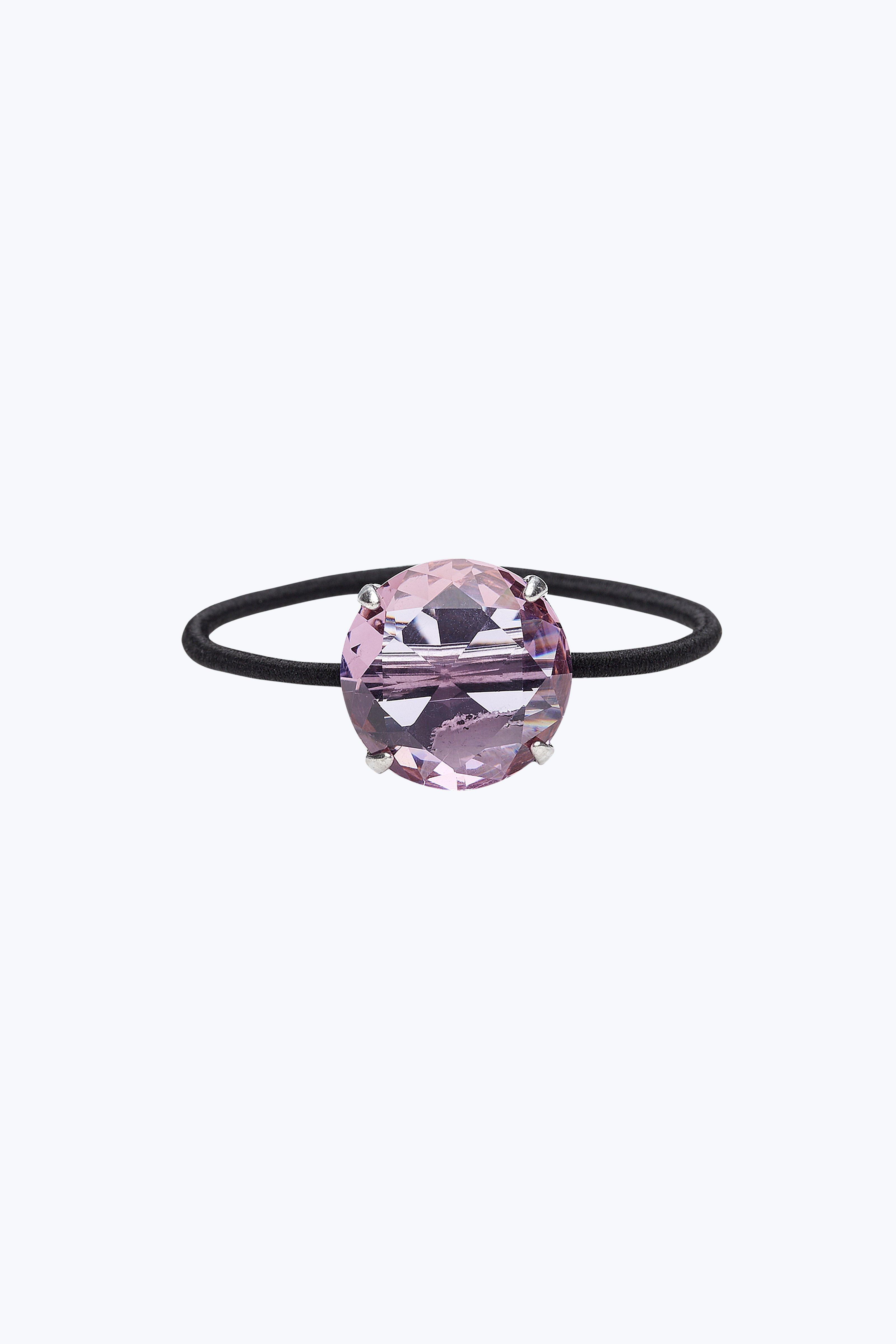 Marc Jacobs Strass Hair Elastic In Blush Rose