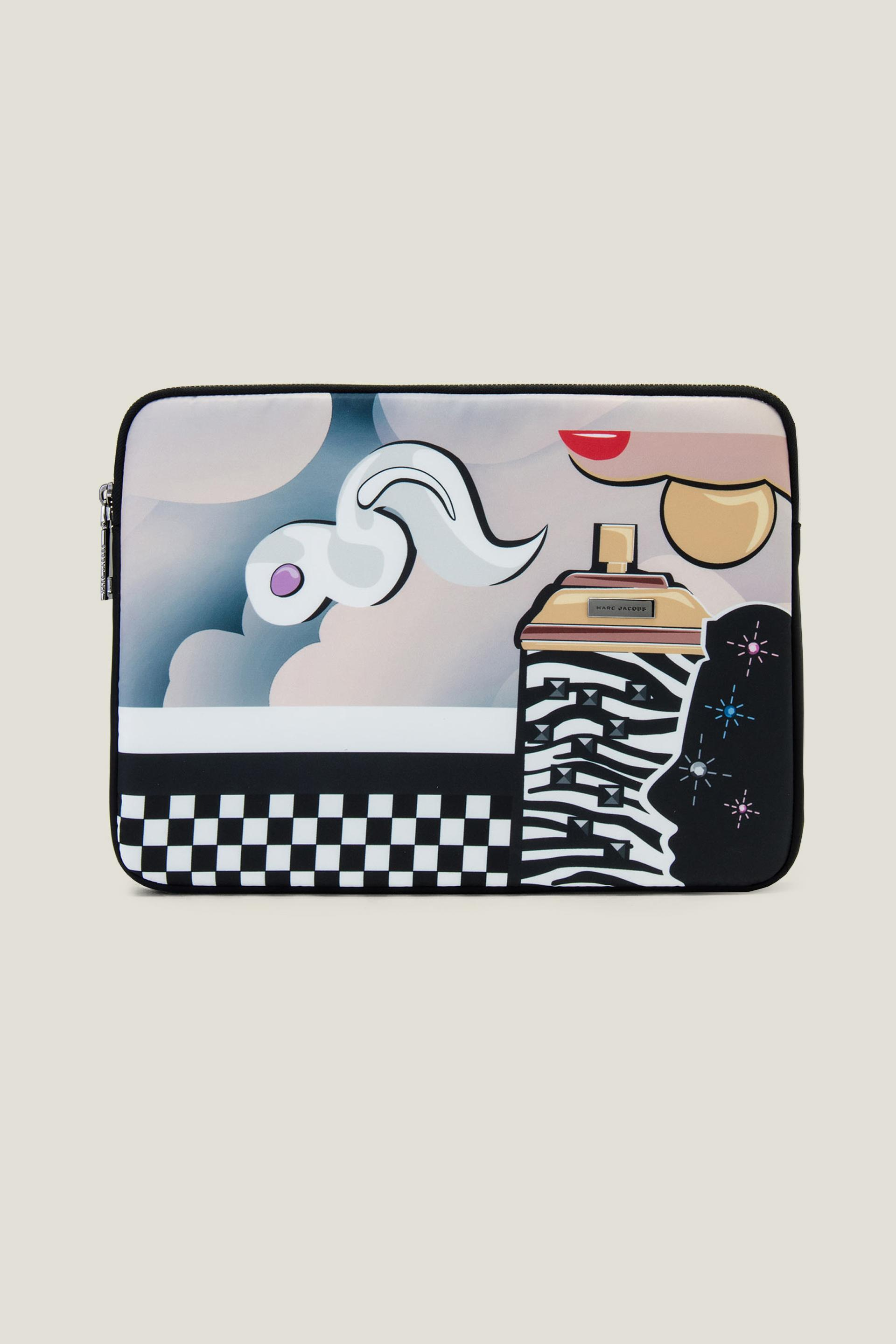 """Marc Jacobs Clouds 13"""" Computer Case In Black Multi"""