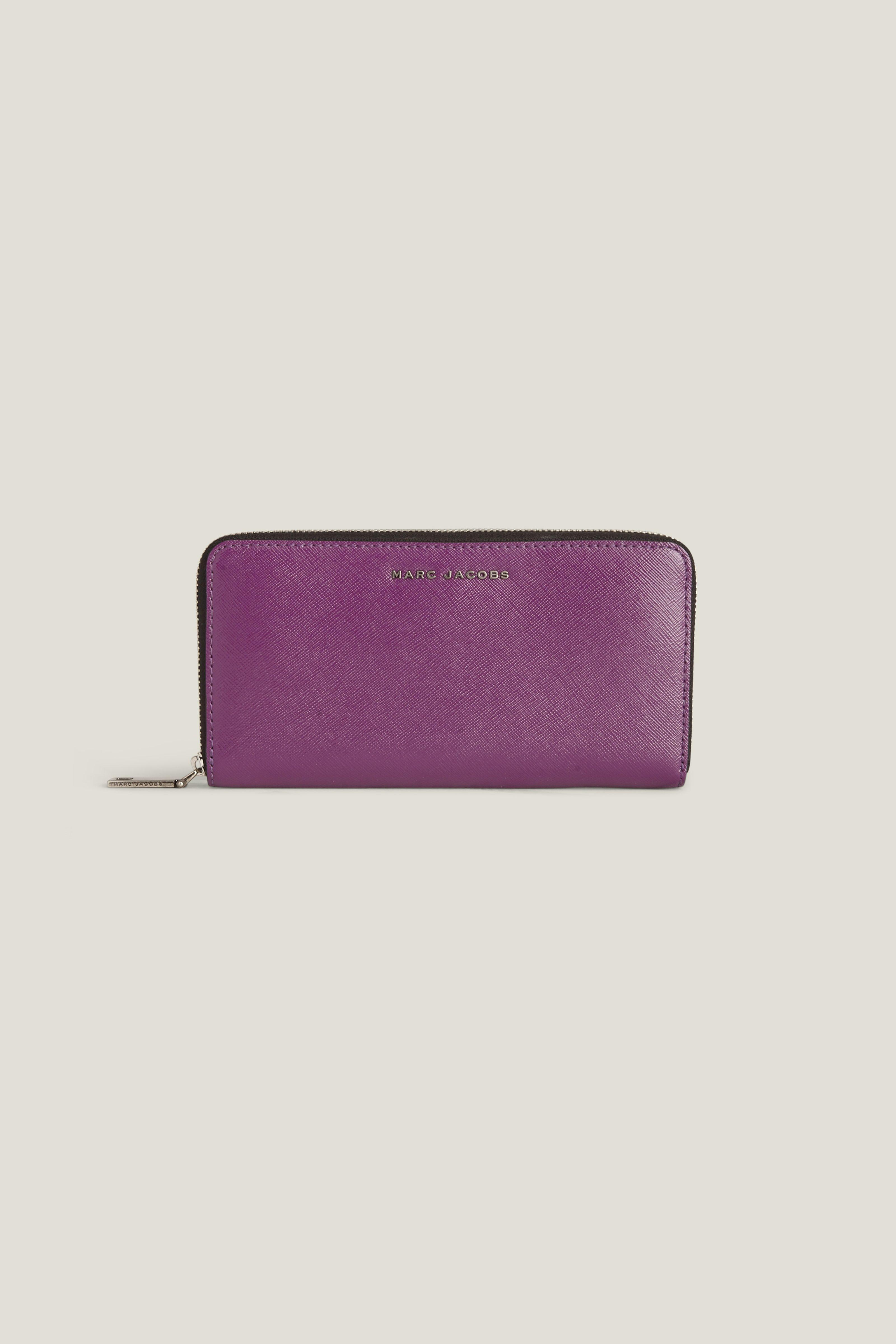 Marc Jacobs Saffiano Tricolor Standard Continental Wallet In Purple