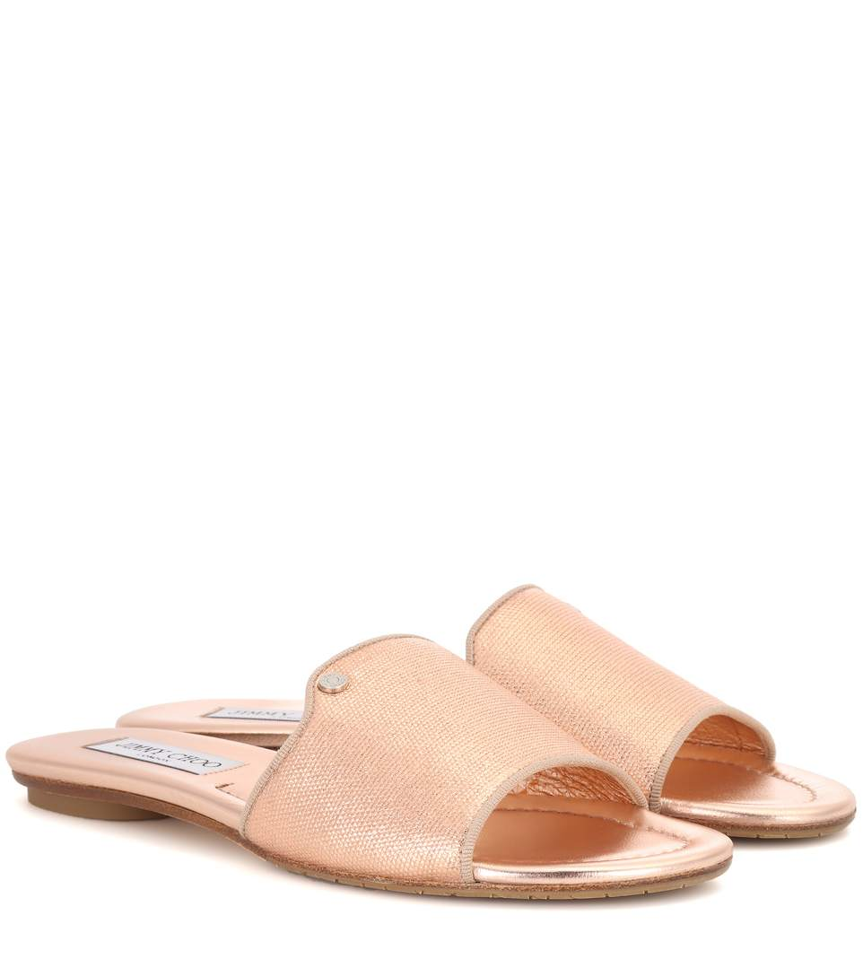 Jimmy Choo Metallic Slides