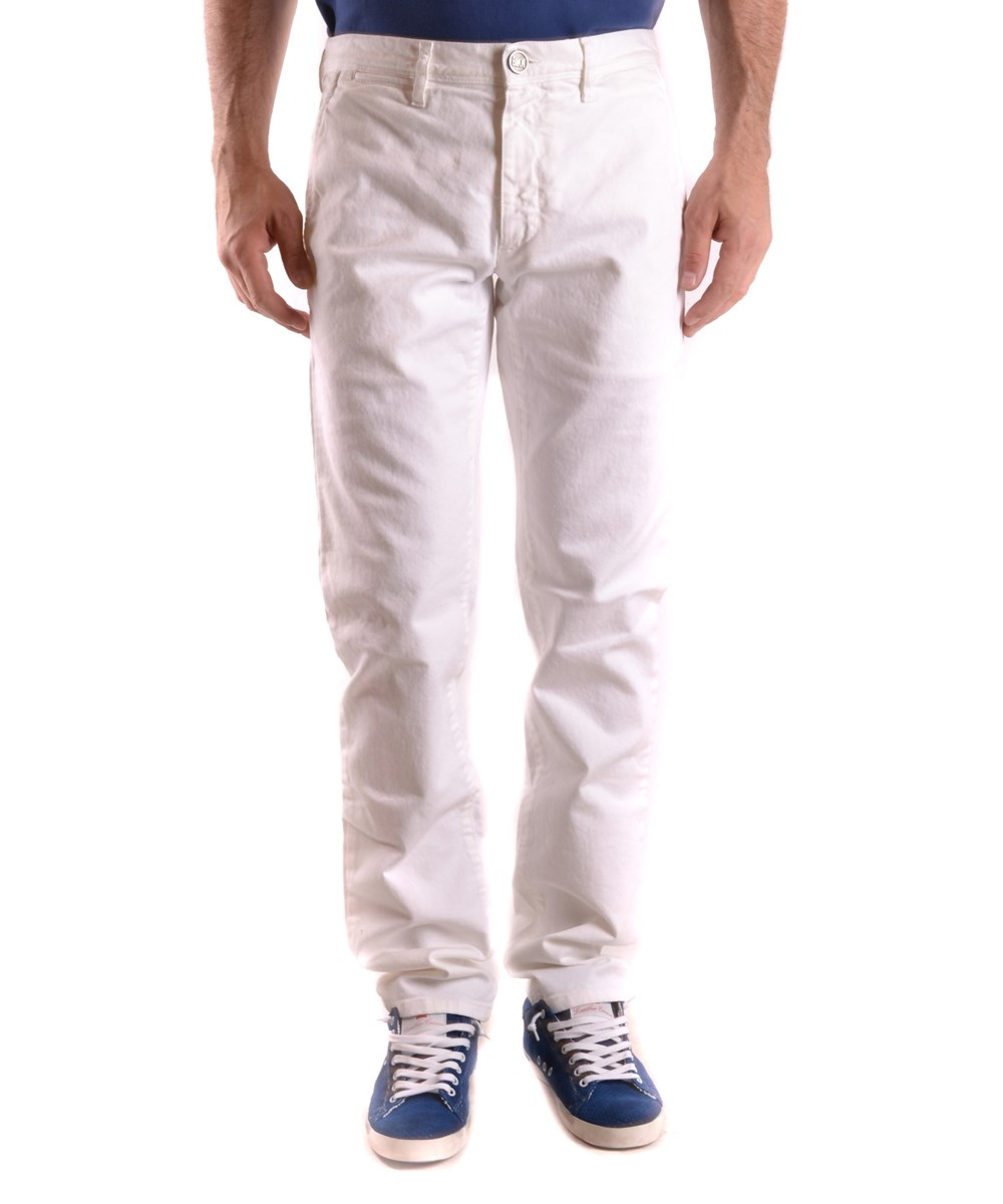 Bikkembergs Men's  White Cotton Jeans