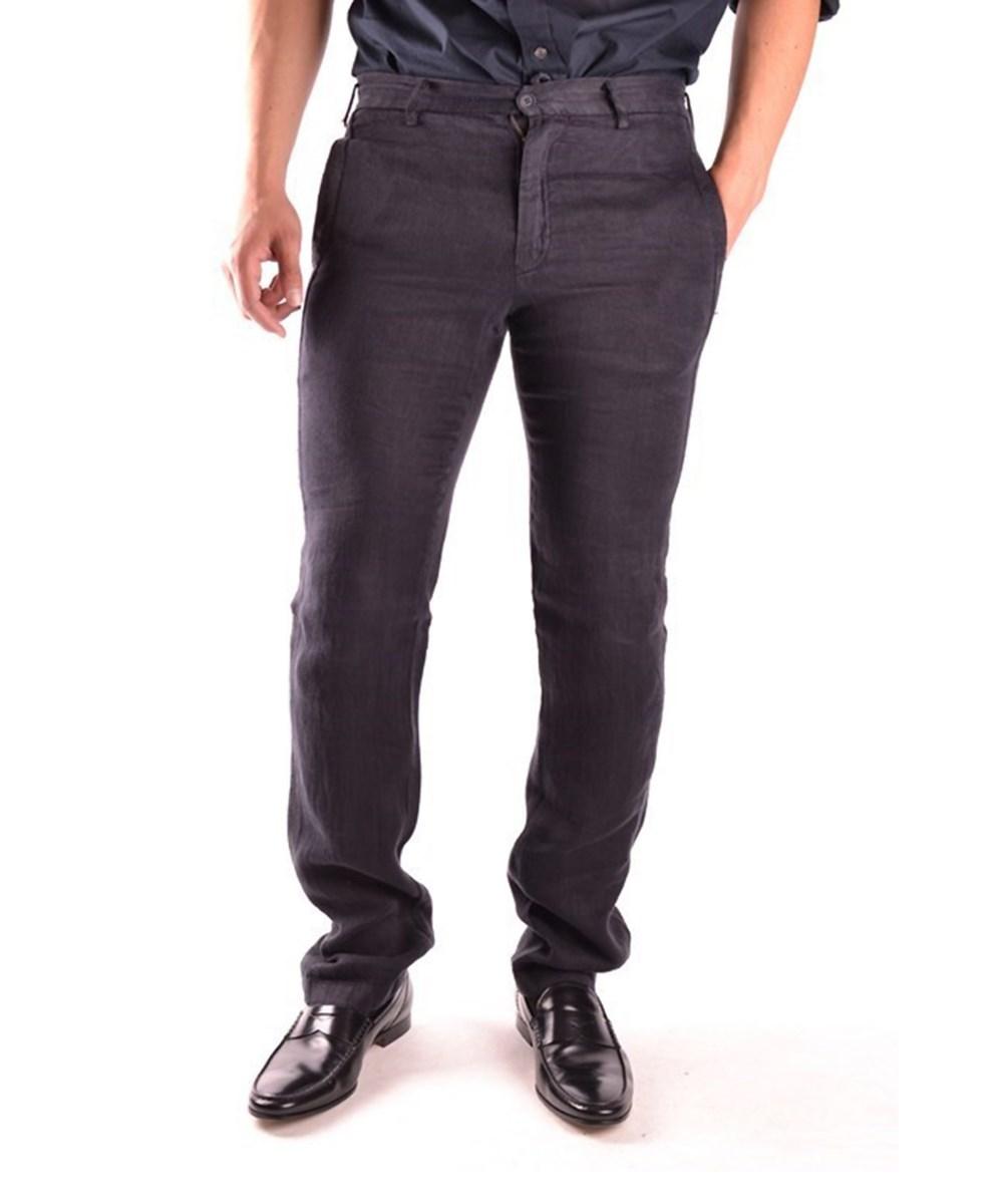 Yohji Yamamoto Men's  Black Linen Jeans