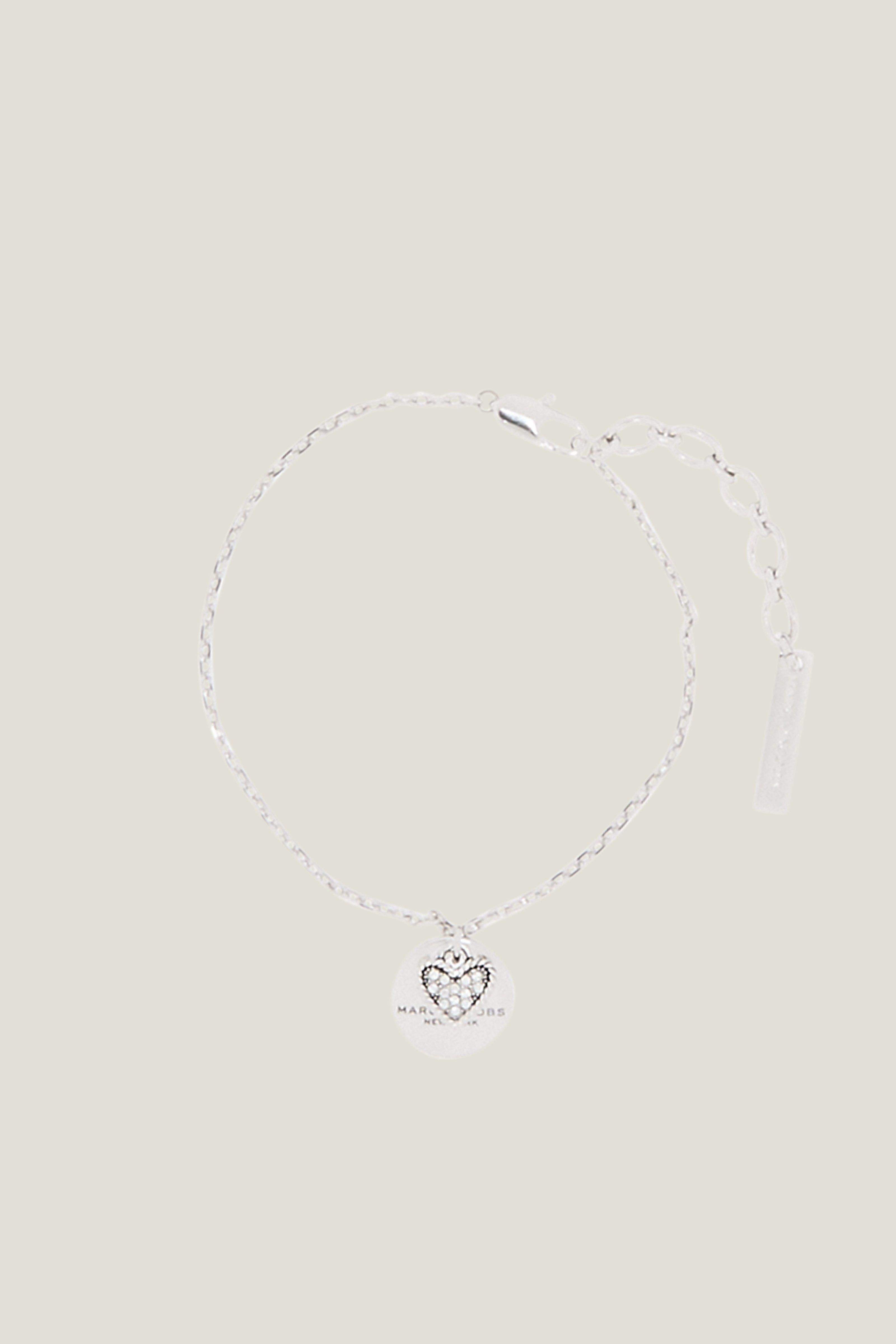 Marc Jacobs Mj Coin Bracelet In Crystal/Silver